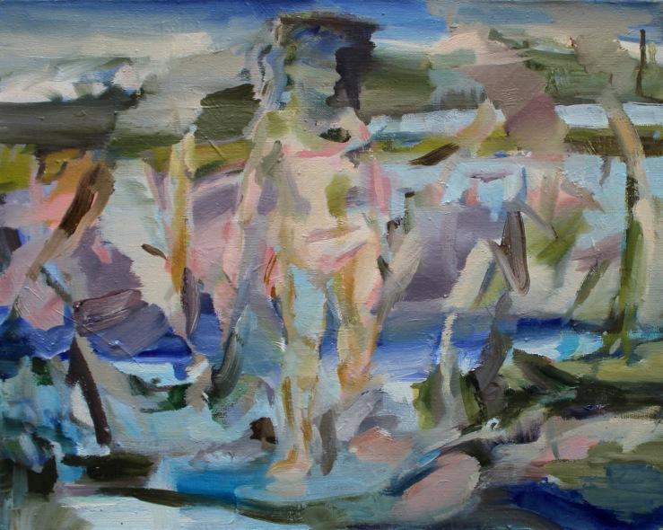 %22Walk On The Riverside%22, Öl auf Leinwand, 40 x 50 cm, 2016