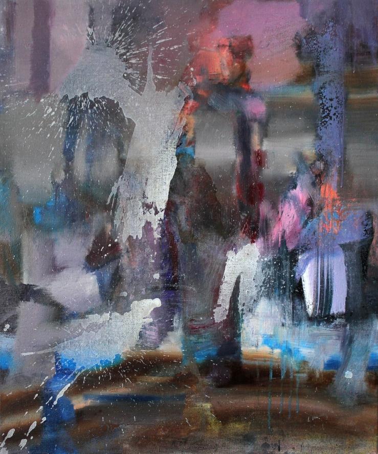 Walking Along, oil on canvas, 84 x 70 cm, 2020